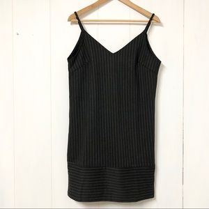 She + Sky Black & White Pinstripe Tank Shift Dress